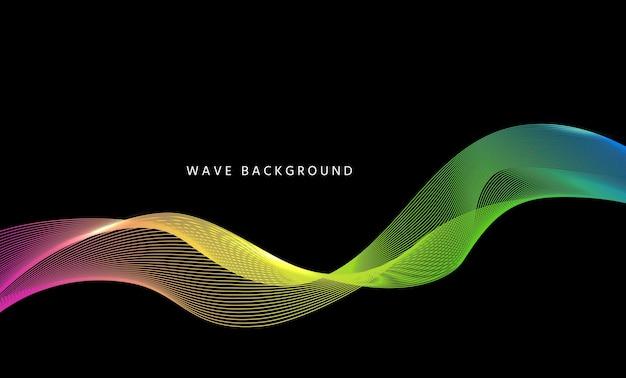 Fundo de fluxo de onda. banner ondulado de tecnologia. ilustração vetorial.