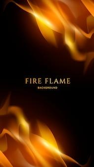 Fundo de fogo e chamas