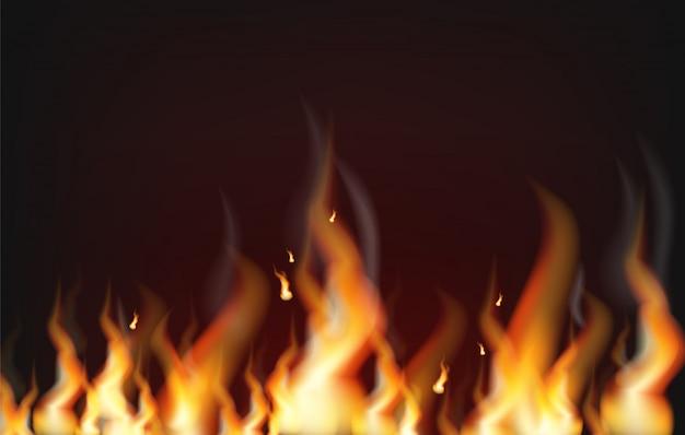 Fundo de fogo realista