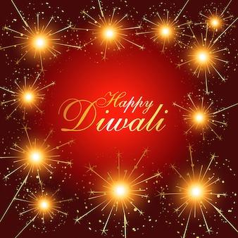 Fundo de fogos de artifício de diwali