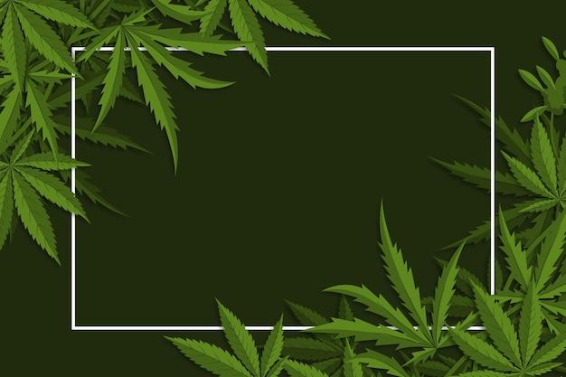 Fundo de folha de cannabis botânica