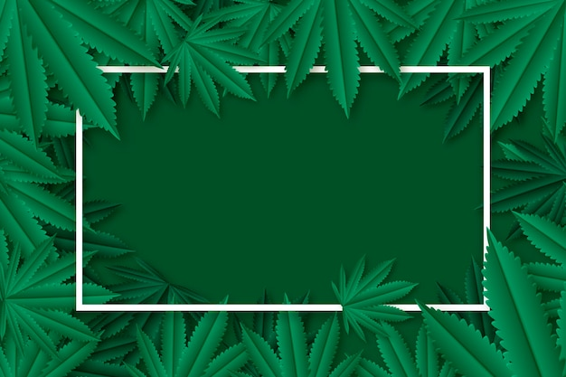 Fundo de folha de cannabis realista