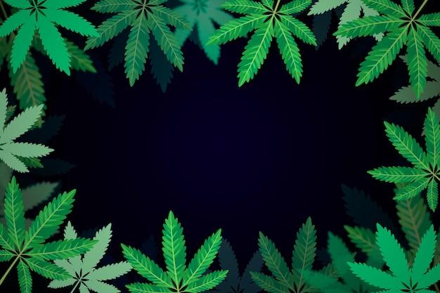 Fundo de folha de cannabis