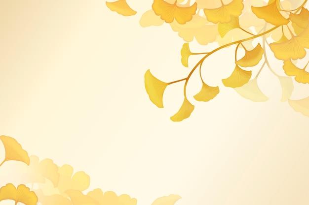 Fundo de folha de gingko