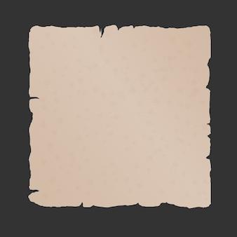 Fundo de folha de papel vintage velho isolado