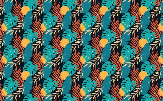Fundo de folha tropical abstrato