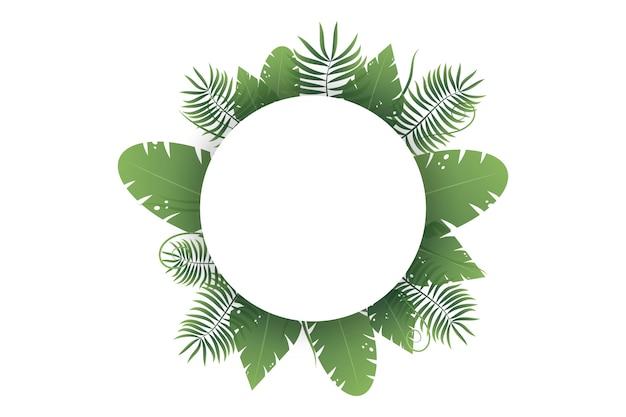 Fundo de folha verde com espaço para texto