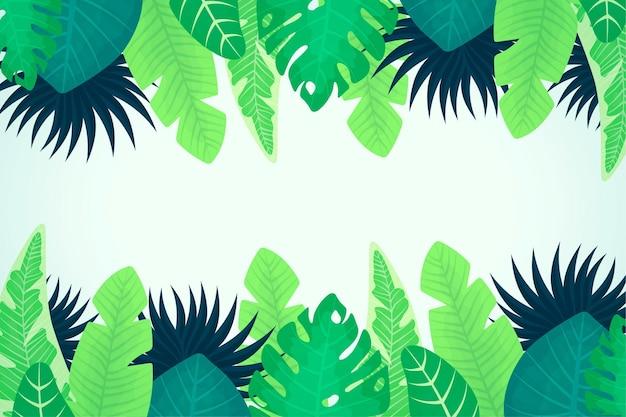 Fundo de folhagem tropical