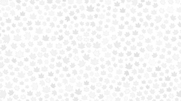 Fundo de folhas cinzentas em fundo branco
