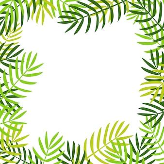 Fundo de folhas de palmeira.