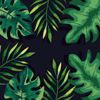 Fundo de folhas e ramos verdes