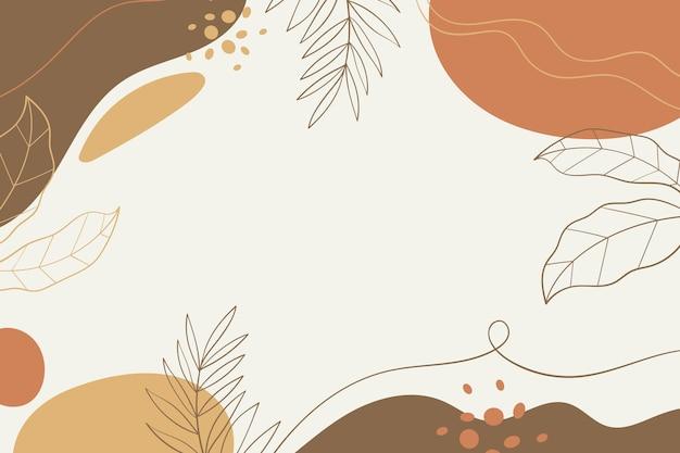 Fundo de folhas minimalistas