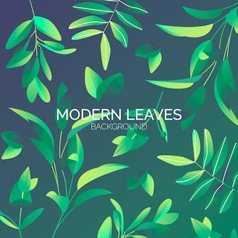 Fundo de folhas modernas