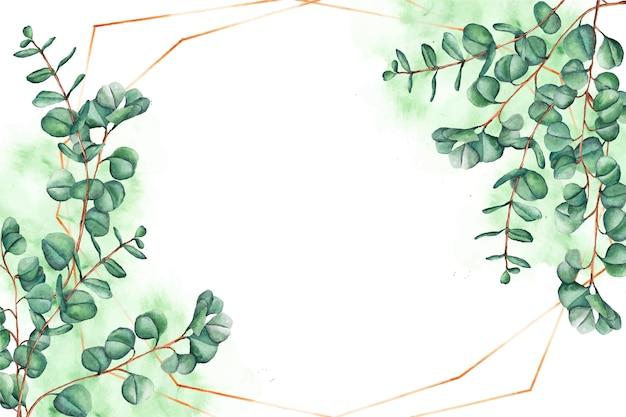 Fundo de folhas ornamentais