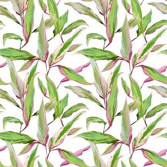 Fundo de folhas tropicais. padrão sem emenda. desenho vetorial