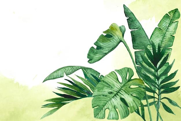 Fundo de folhas tropicais para zoom
