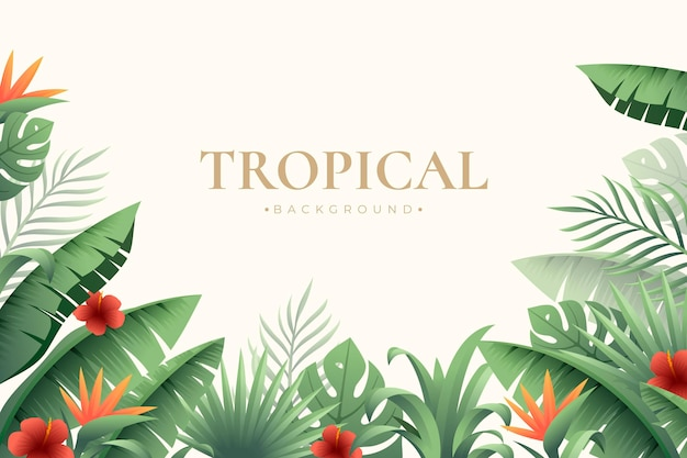 Fundo de folhas tropicais realistas