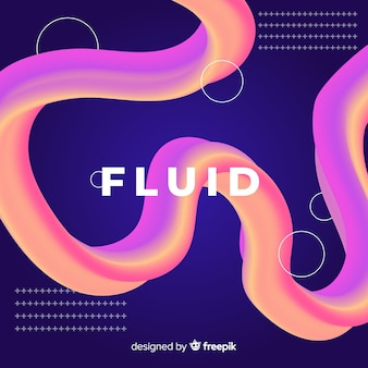 Fundo de forma 3d fluido colorido