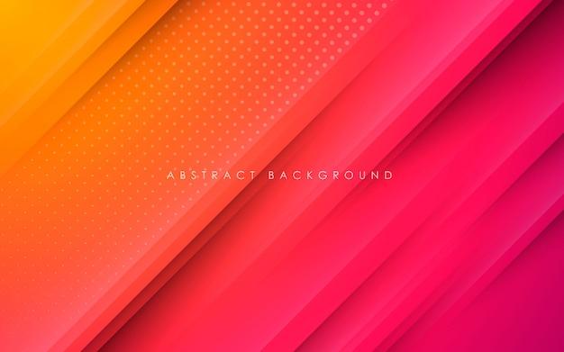 Fundo de forma abstrata gradiente papercut