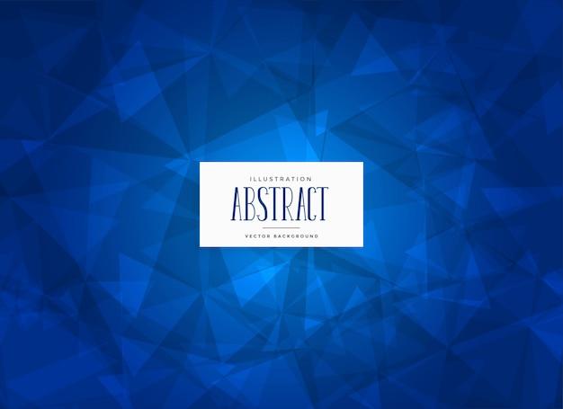 Fundo de forma abstrata triângulos azuis