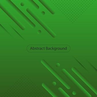 Fundo de forma arredondada gradiente verde moderno. fundo abstrato. ilustração vetorial.