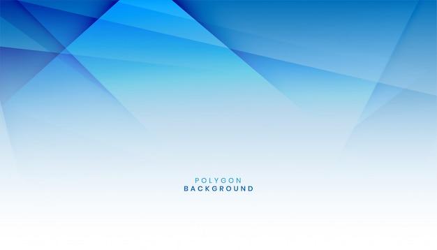 Fundo de forma de polígono azul abstrato