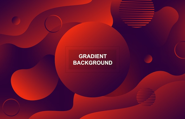 Fundo de forma dinâmica líquido fluido gradiente colorido
