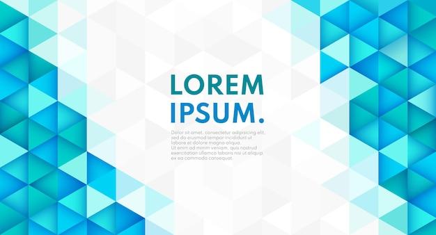 Fundo de forma geométrica de cor na moda abstrata com espaço de cópia.