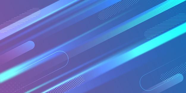 Fundo de forma geométrica elegante gradiente azul