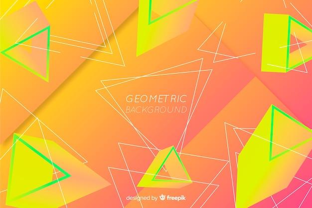 Fundo de forma geométrica gradiente abstrata