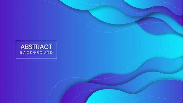 Fundo de forma líquida gradiente azul geométrico abstrato
