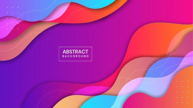 Fundo de forma líquida gradiente geométrico abstrato