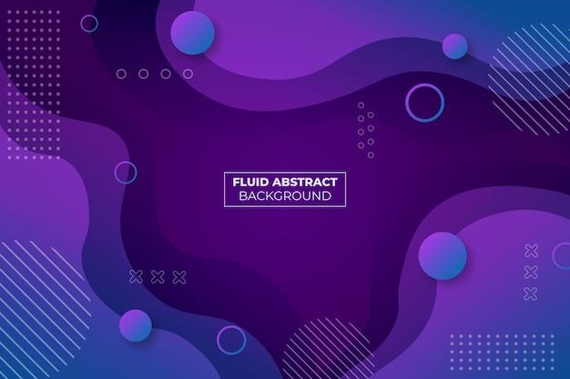 Fundo de forma simples com gradiente de fluido roxo