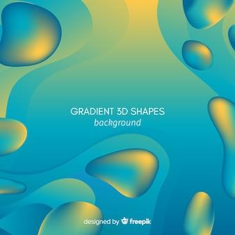 Fundo de formas 3d fluido gradiente