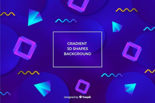 Fundo de formas 3d gradiente