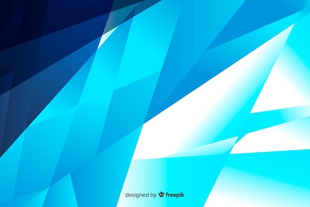 Fundo de formas abstratas azul gradiente