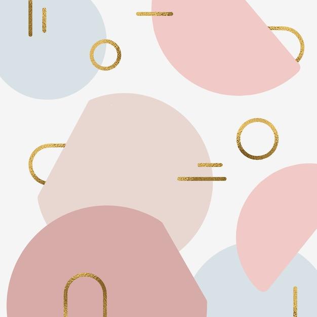 Fundo de formas abstratas com sotaque de ouro