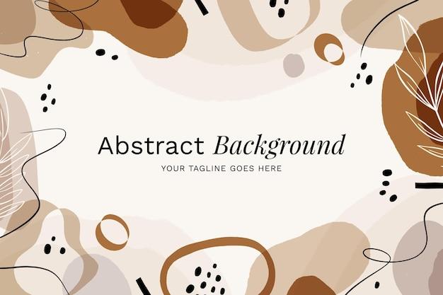 Fundo de formas abstratas de design plano desenhado à mão