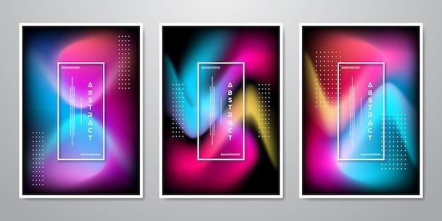 Fundo de formas abstratas de gradiente na moda.