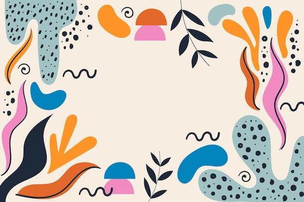 Fundo de formas abstratas desenhadas à mão