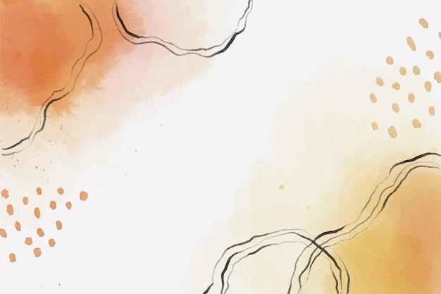 Fundo de formas abstratas em aquarela laranja