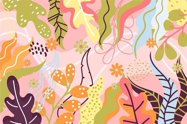 Fundo de formas abstratas mão desenhada