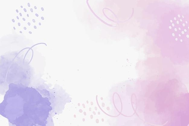 Fundo de formas abstratas rosa aquarela