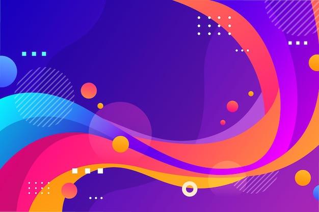 Fundo de formas coloridas abstratas