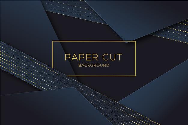 Fundo de formas de corte de papel em meio-tom