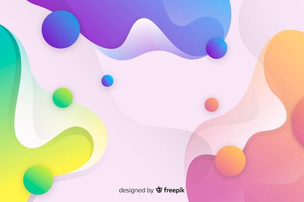 Fundo de formas de fluxo colorido abstrato
