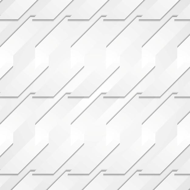 Fundo de formas de tecnologia de papel cinza. desenho vetorial