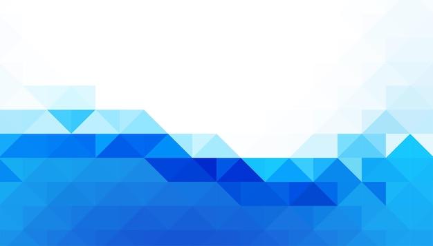 Fundo de formas de triângulo abstrato azul