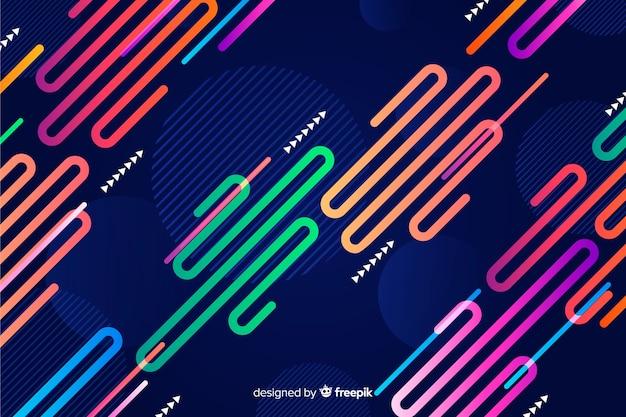 Fundo de formas dinâmicas coloridas planas