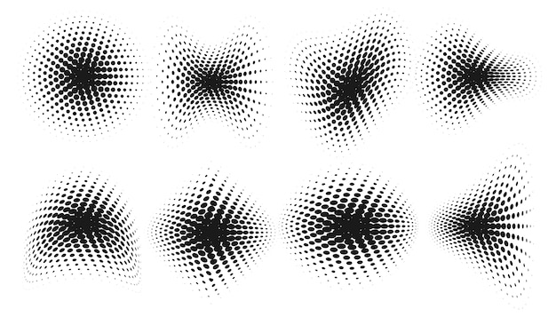Fundo de formas distorcidas em meio-tom abstrato do grunge